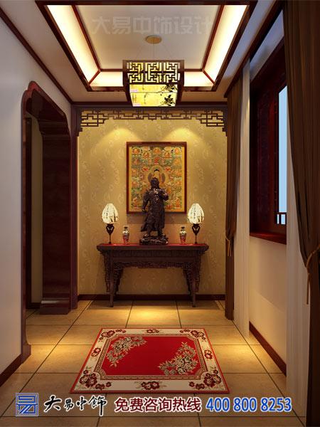 别墅中式玄关装修设计效果图