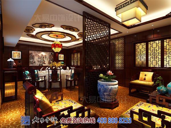 中式餐饮宴会大厅装修效果图案例