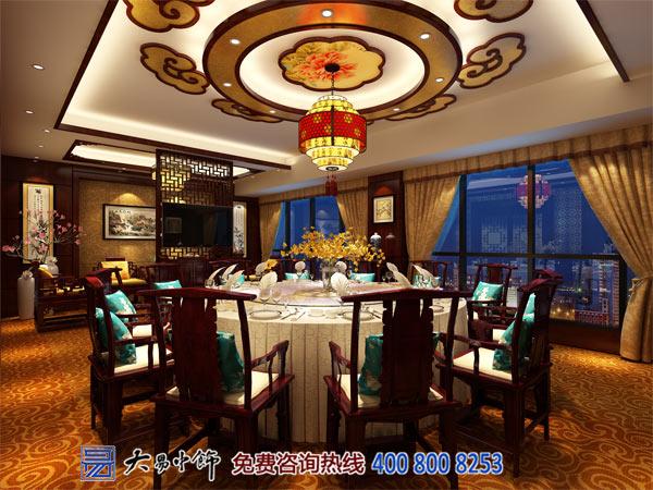 中式餐厅装修餐饮设计厅效果图