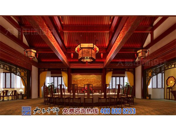 餐厅中式装修大宴会客厅设计效果图