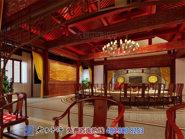 中式宴会厅餐饮设计装修效果图