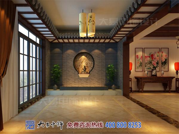 茶楼茶室玄关中式设计效果图