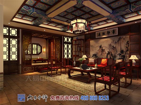 客厅中式茶楼设计装修效果图