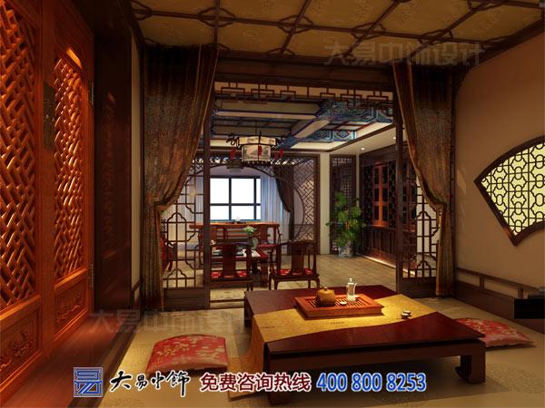 中式茶楼茶室客厅装修设计效果图