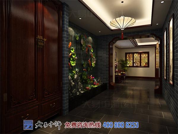 中式餐饮设计进门装修效果图