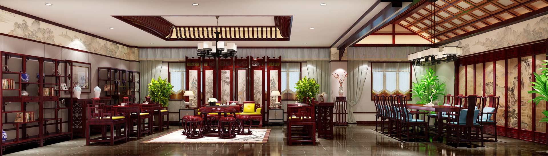 别墅新中式装修设计效果图