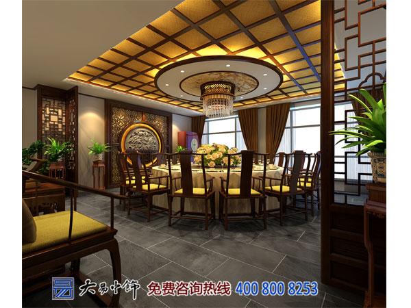 青海西寧中式酒樓設計 造禪意典雅就餐空間