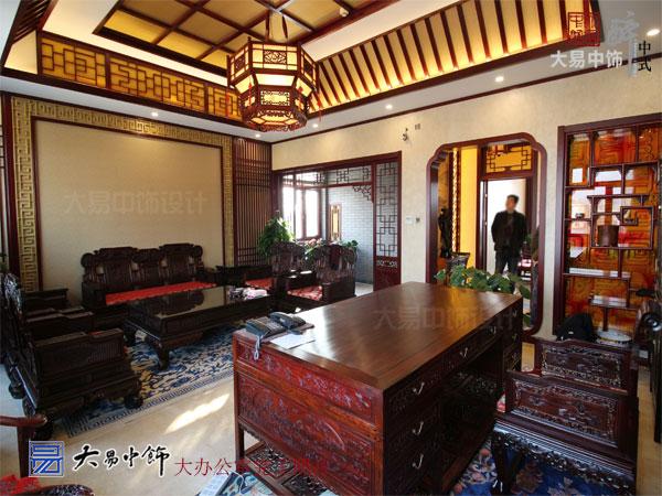 北京順義工業園區藥業集團中式辦公空間裝修設計元素