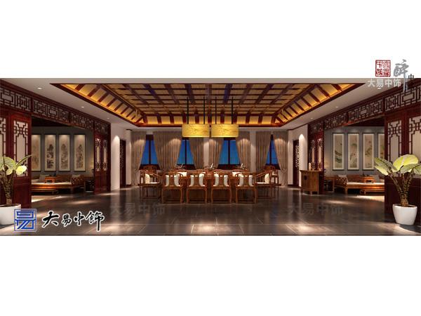 河北承德中式風格裝修餐飲會館設計更為私密休閑