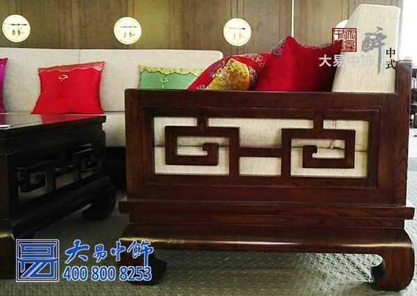 古典中式榆木沙发真材实木推崇大方美观