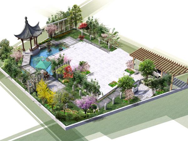 園林中式設計藝術建筑之美,清新優雅的裝修風格