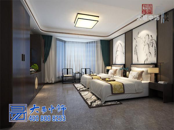 新中式民宿客栈客房包间效果图