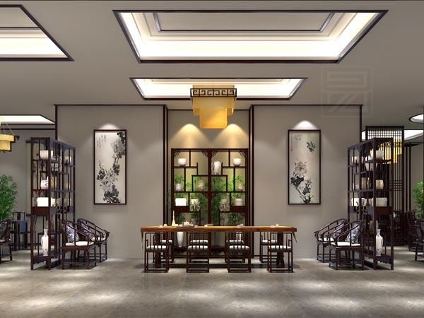 十里河红木展厅古典家具装修设计